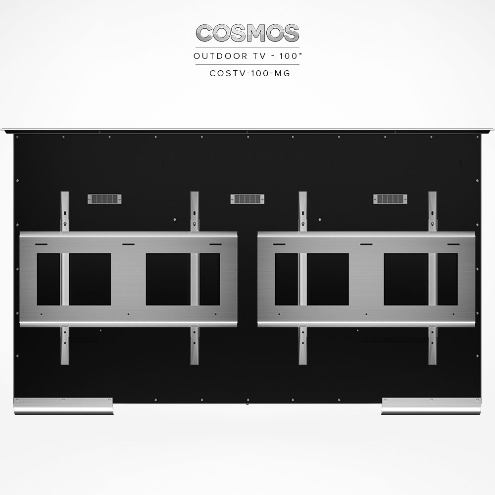 Cosmos Outdoor TV 100″ (2pcs COSMT-BR-75/85 Brackets)